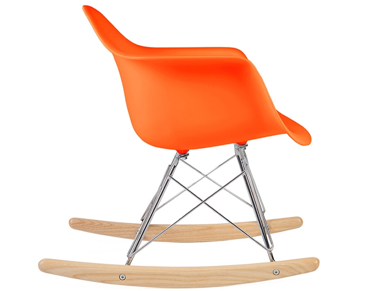 kinder eames schaukelstuhl rar orange. Black Bedroom Furniture Sets. Home Design Ideas