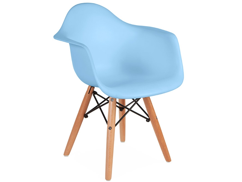 Kinder stuhl eames daw blau for Design stuhl eames