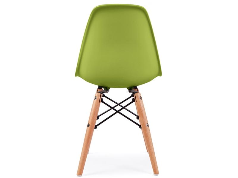 Kinder stuhl eames dsw gr n for Eames design stuhl