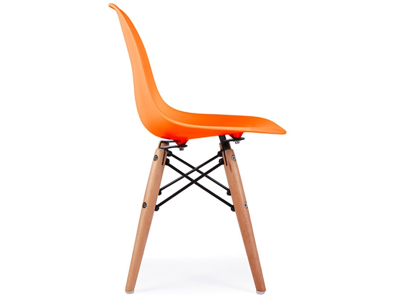 kinder stuhl eames dsw orange. Black Bedroom Furniture Sets. Home Design Ideas