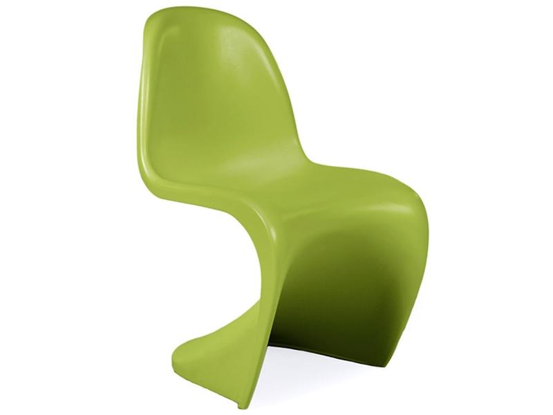 Kinder stuhl panton gr n for Design stuhl panton