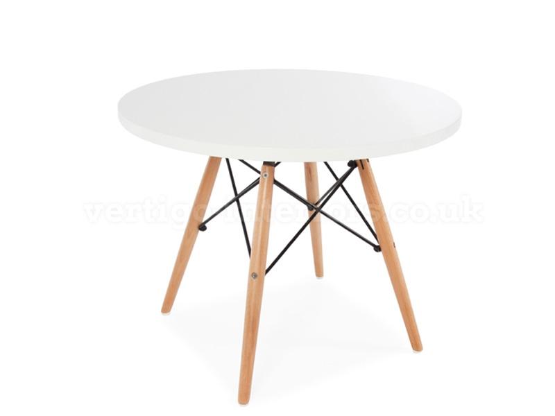 kinder tisch eames wei. Black Bedroom Furniture Sets. Home Design Ideas