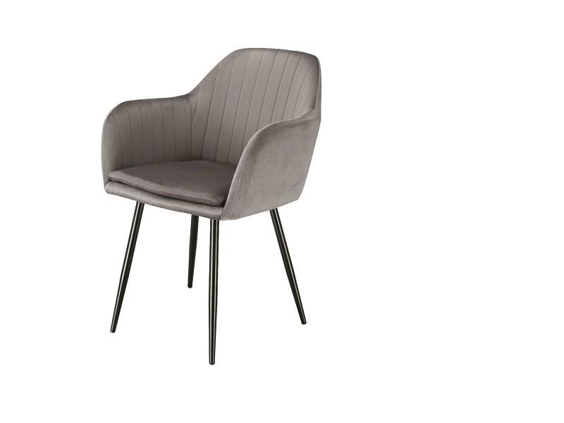 Bild von Stuhl-Design Orville Brando Chair - Graues Samtstoff