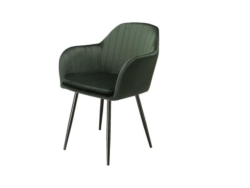 Bild von Stuhl-Design Orville Brando Chair - Grünes Samtstoff