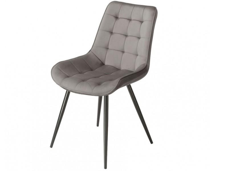 Bild von Stuhl-Design Orville Lisboa Chair - Graues Samtstoff