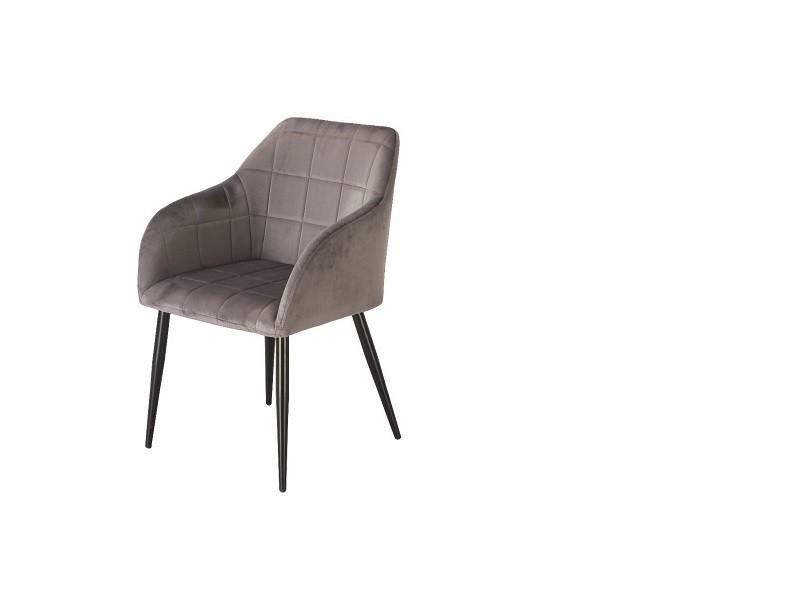 Bild von Stuhl-Design Orville Luca Chair - Graues Samtstoff