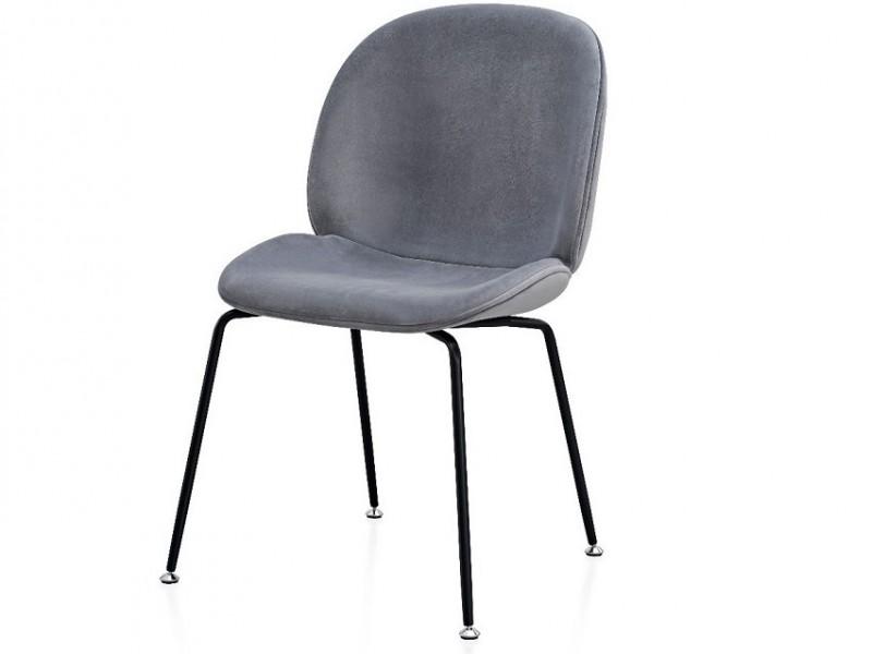 Bild von Stuhl-Design Orville Mr. B  Chair - Graues  Samtstoff