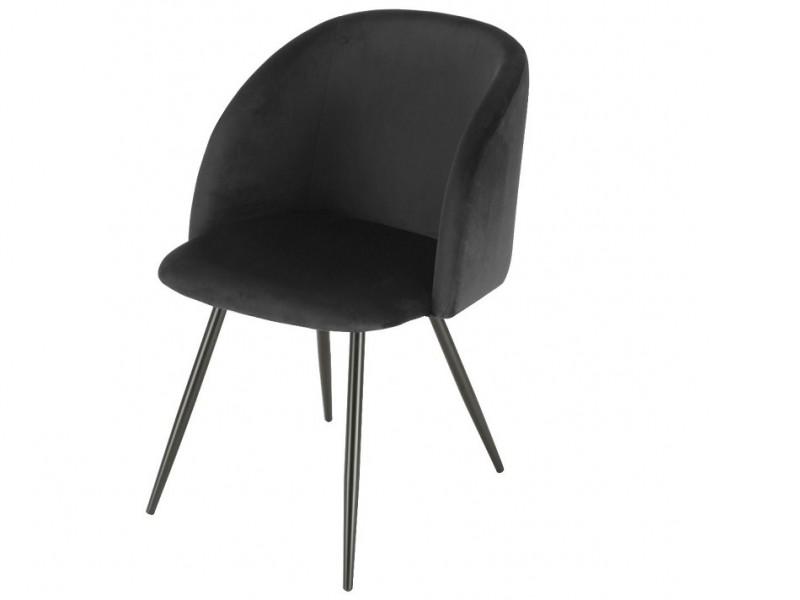 Bild von Stuhl-Design Orville Vesper Chair - Schwarzes Samtstoff