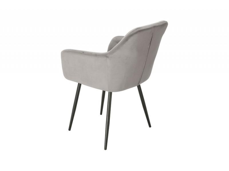 Bild von Stuhl-Design Orville Vinny Chair - Graues Samtstoff