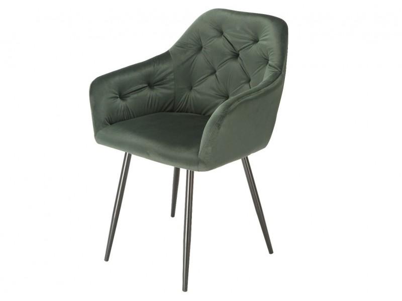 Bild von Stuhl-Design Orville Vinny Chair - Grünes Samtstoff