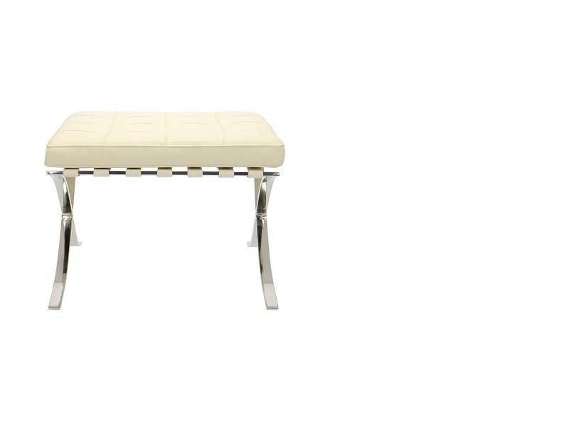 Bild von Stuhl-Design Ottoman Barcelona - Weiß Creme