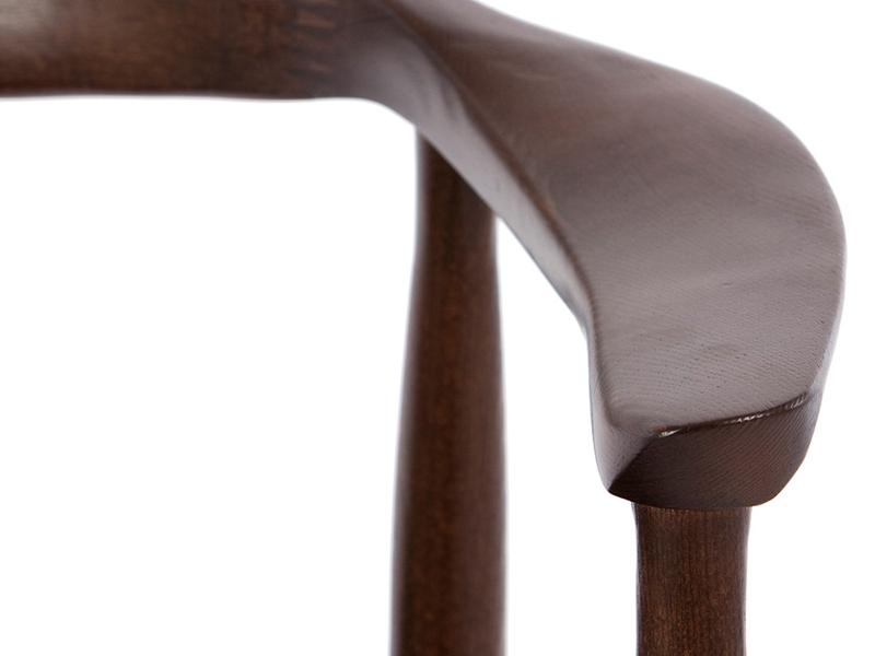 Bild von Stuhl-Design Wegner Stuhl The Chair - Braun/Schwarz