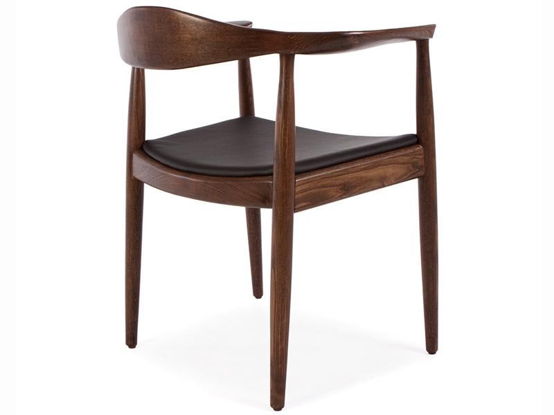 wegner stuhl the chair braun schwarz. Black Bedroom Furniture Sets. Home Design Ideas