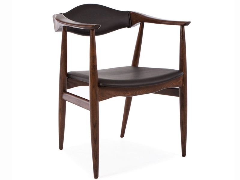 Wegner stuhl troy braun schwarz for Design stuhl schwarz