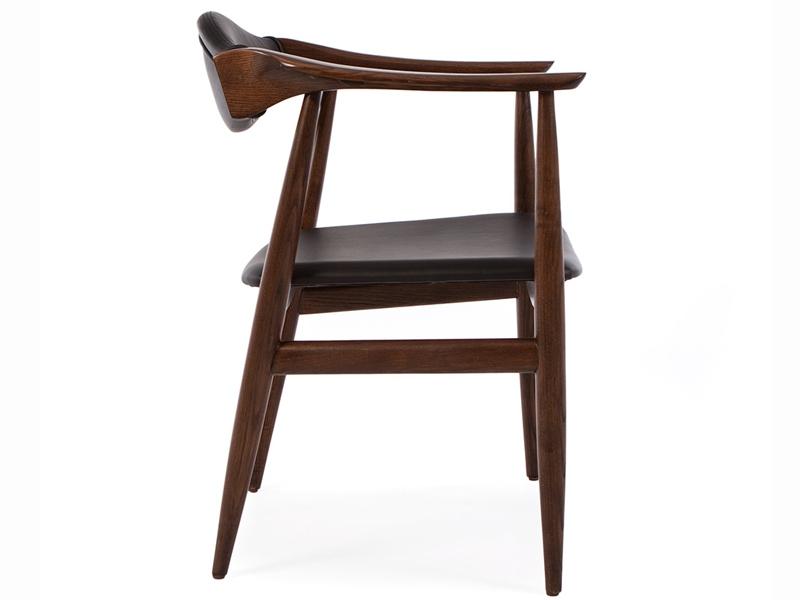 wegner stuhl troy braun schwarz. Black Bedroom Furniture Sets. Home Design Ideas