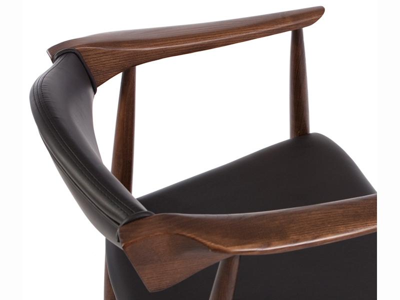 Bild von Stuhl-Design Wegner Stuhl Troy - Braun/Schwarz
