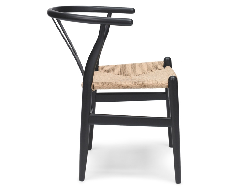 wegner stuhl wishbone ch24 schwarz. Black Bedroom Furniture Sets. Home Design Ideas