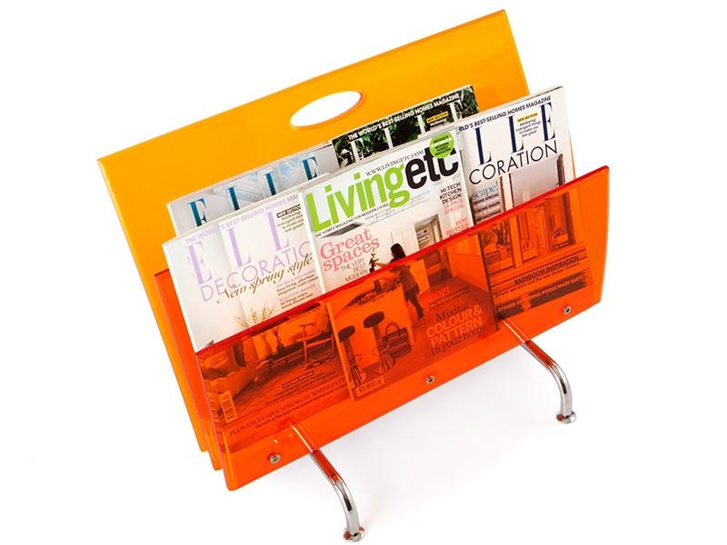 Bild von Stuhl-Design Zeitungsständer The Step - Orange