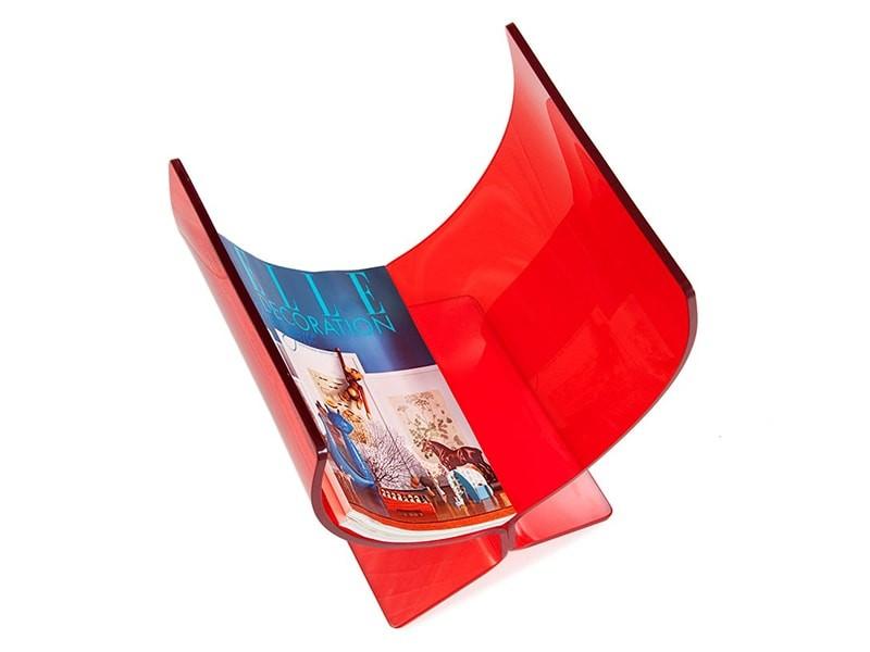 Bild von Stuhl-Design Zeitungständer Butterfly rot