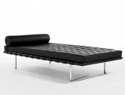 Bild von Stuhl-Design Barcelona Liege 200 cm - Schwarz