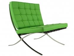 Bild von Stuhl-Design Barcelona Sessel - Apfelgrün