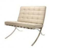 Bild von Stuhl-Design Barcelona Sessel - Grau beige