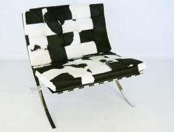 Bild von Stuhl-Design Barcelona Sessel Pony - Schwarz & Weiß
