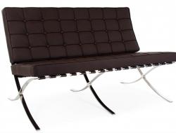 Bild von Stuhl-Design Barcelona Sofa 2 Sitzer - Dunkelbraun