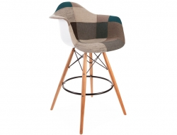 Bild von Stuhl-Design Barstuhl DAB - Blau Patchwork
