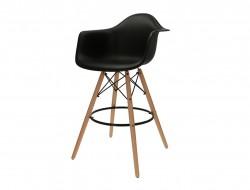 Bild von Stuhl-Design Barstuhl DAB - Schwarz