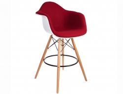 Bild von Stuhl-Design Barstuhl DAB Wollpolsterung - Rot