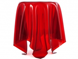 Bild von Stuhl-Design Beistelltisch Illusion - Rot
