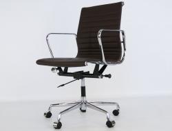 Bild von Stuhl-Design Eames Alu EA117 - Dunkelbraun