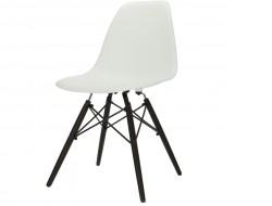 Bild von Stuhl-Design Eames DSW Stuhl - Weiß (Dunkle Beine)