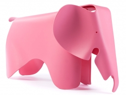 Bild von Stuhl-Design Elefant Eames - Rosa