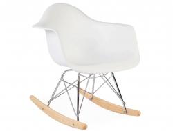 Bild von Stuhl-Design Kinder Eames Schaukelstuhl RAR - Weiß