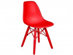 Bild von Stuhl-Design Kinder Stuhl DSW Color - Rot