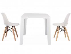 Bild von Stuhl-Design Kinder Tisch Jasmine - 2 DSW Stühle