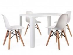 Bild von Stuhl-Design Kinder Tisch Jasmine - 4 DSW Stühle