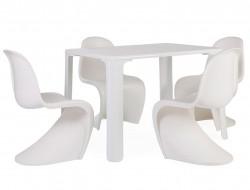 Bild von Stuhl-Design Kinder Tisch Jasmine - 4 Panton Stühle