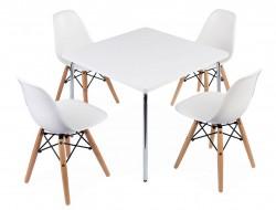 Bild von Stuhl-Design Kinder Tisch Olivier - 4 DSW Stühle