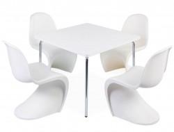 Bild von Stuhl-Design Kinder Tisch Olivier - 4 Panton Stühle