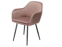 Bild von Stuhl-Design Orville Brando Chair - Rosa Samtstoff