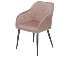 Bild von Stuhl-Design Orville Luca Chair - Rosa Samtstoff