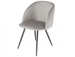 Bild von Stuhl-Design Orville Vesper Chair - Graues Samtstoff
