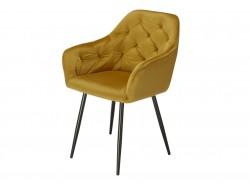 Bild von Stuhl-Design Orville Vinny Chair - Gelbes Samtstoff