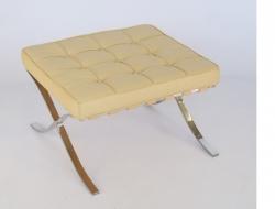 Bild von Stuhl-Design Ottoman Barcelona - Creme