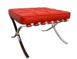 Bild von Stuhl-Design Ottoman Barcelona - Rot