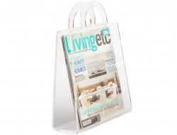 Bild von Stuhl-Design Zeitungsständer Handbag - Transparent