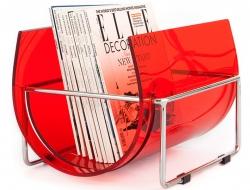 Bild von Stuhl-Design Zeitungsständer The Basin - Rot